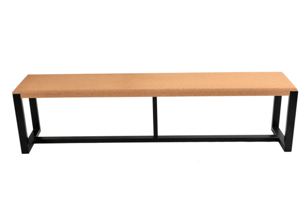 Bench-Natural-Cork-Black-Metal-1