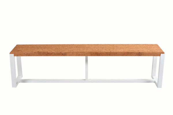Bench-Pure-Cork-White-Metal-1b