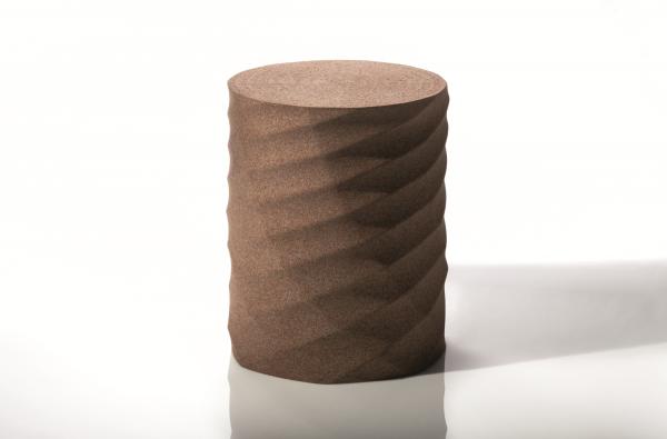Modern Designer Stool - Dark Cork 1
