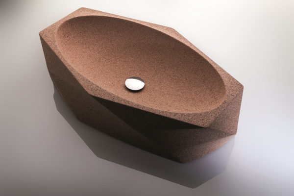 Modern Washbasin - Dark Cork 1
