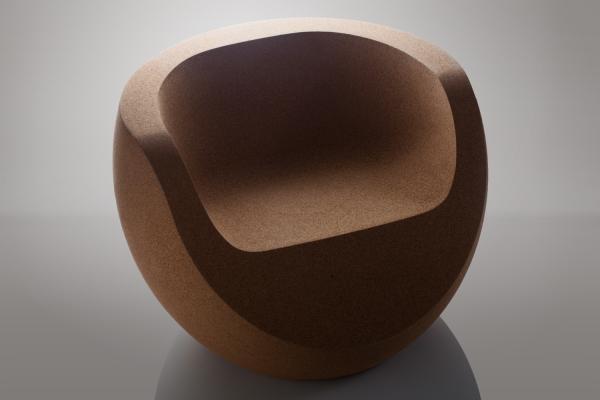 Moon Designer Chair - Natural Cork 1