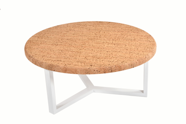 Round-Coffee-Table-Pure-Cork-White-Metal-1b